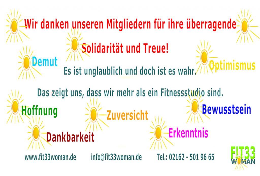 Fit33woman Banner Solidarität